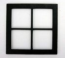 8x8 Wood Insert: Black Window