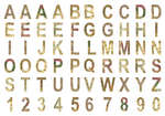 Chipboard Alphabet: Global