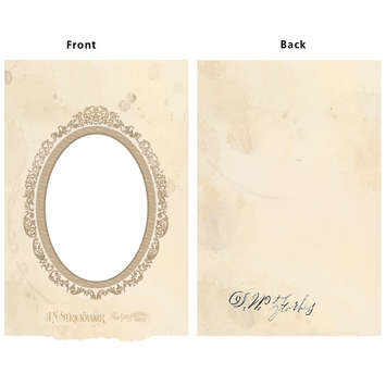 Vintage Frame Cover: Oval picture