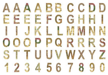 Chipboard Alphabet: Global picture