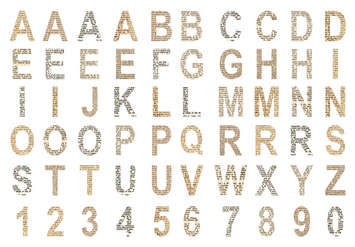 Chipboard Alphabet: Off the Wall picture
