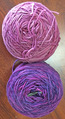 Sock-a-licious - Heather and Purple Heart