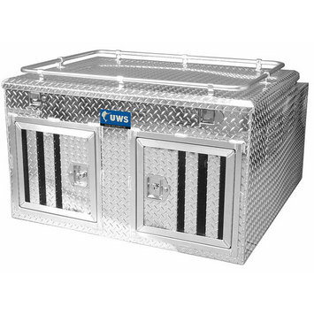 """48"""" x 48"""" Double-Door Dog Box with Full Enclosure & Storage picture"""