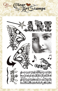 Altered Art  Clear Art Stamp picture