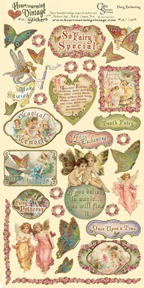 Fairy Enchanting Heartwarming Vintage Card Stock Sticker picture