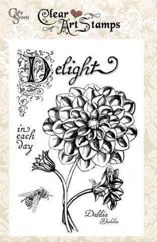 Dahlia Clear Art Stamps picture