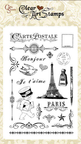 French Mail  Clear Art Stamp picture