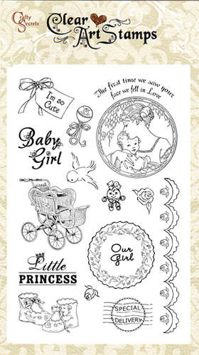 Baby Girl Clear Art Stamp picture
