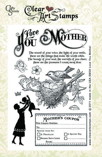 Love You Mother  Clear Art Stamps picture