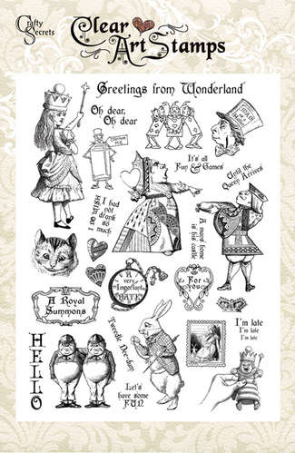 Greetings from Wonderland Clear Art Stamp picture