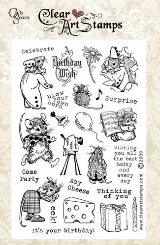 Mouse Party   Clear Art Stamps picture