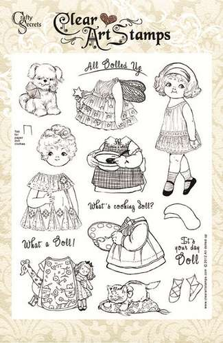 All Dolled Up Clear Art Stamps picture