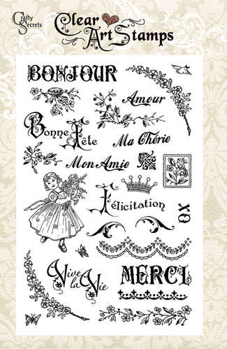 Bonjour Merci   Clear Art Stamps picture