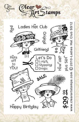 Ladies Hat Club Clear Art Stamp picture