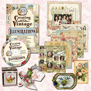 Creating with Vintage Illustrations CD picture