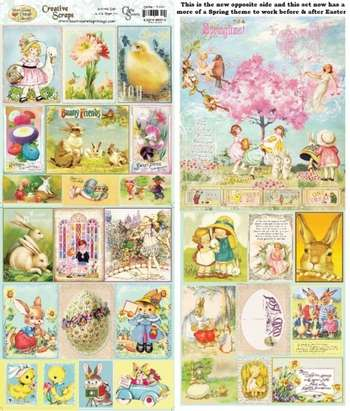 Spring Easter Creative Scraps NEW Double Sided picture