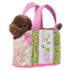 PINK BIRD-TOTE W/CHOCOLATE LAB