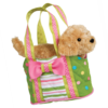 Peppermint Candy Tote w/ Golden Retriever