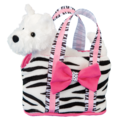 STRIPES TOTE W/TERRIER