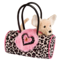 Pink Leopard Sak with Chihuahua