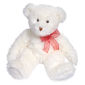 Snow Flurry Bear with Red Ribbon