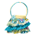 Flower Doodle Ruffle Tote