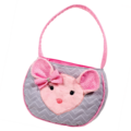 Madeline PINK/ GRAY MOUSE TOTE