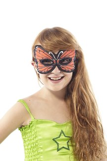 FANTASY MONARCH BUTTERFLY MASK, ORANGE picture