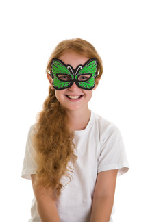 Mask, Butterfly, Green picture