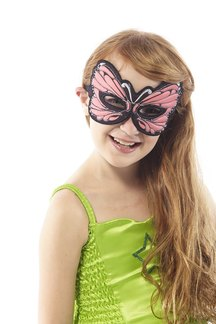 FANTASY MONARCH BUTTERFLY MASK, PINK picture