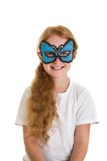 Blue Butterfly Mask picture