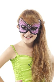 FANTASY MONARCH BUTTERFLY MASK, LAV. - PURPLE picture