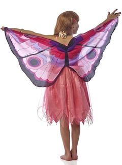 FANTASY DRESS W/PINK GLITTR BUTTERFLY  WING - X SMALL picture
