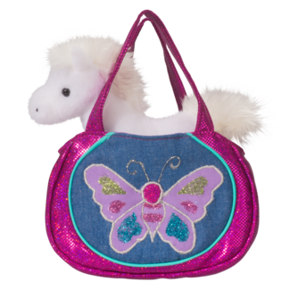 Shimmering Butterfly Sak w/ White Horse picture