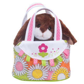 Spring Tote with Chocolate Bunny picture