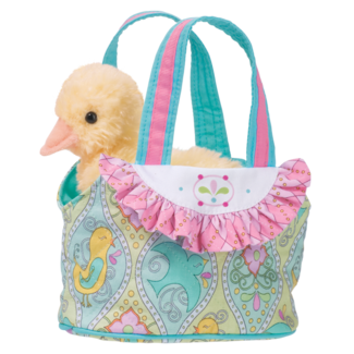 AQUA BIRD-TOTE  W/DUCK picture