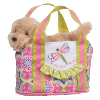 Dragonfly Tote with Golden Retriever picture