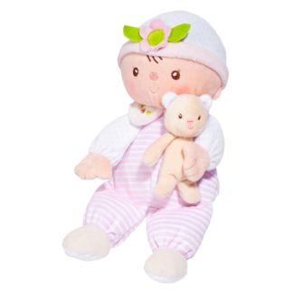 Claire Stripes & Dots Baby Doll with Teddy Bear picture