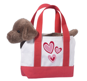 Valentine Tote with Chocolate Lab picture