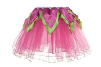 Skirt M, Hot Pink Tutu w/Bright Green Petals picture