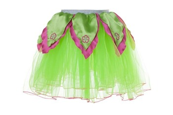 BRIGHT GREEN TuTu / Hot Pink Petals - M picture