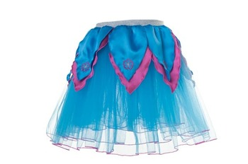 AQUA BLUE TuTu / Hot Pink Petals  - XS picture