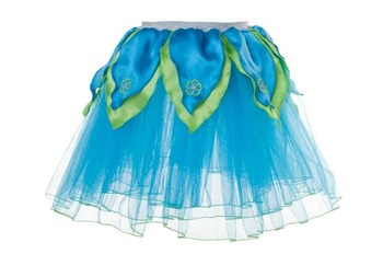 AQUA BLUE TuTu / Bright Green Petals - XS picture