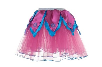 HOT PINK TuTu / Aqua Blue Petals - M picture