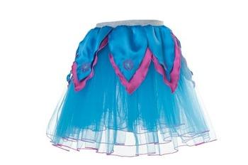 AQUA BLUE TuTu / Hot Pink Petals - S picture