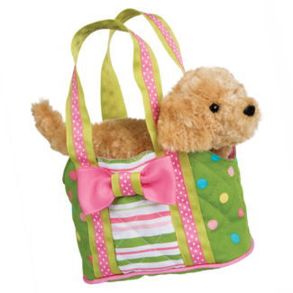 Peppermint Candy Tote w/ Golden Retriever picture