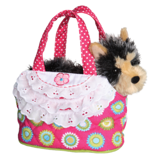 LIME FLOWER TOTE WITH YORKIE picture