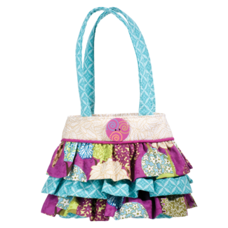 PEACEFUL EARTH RUFFLE TOTE picture