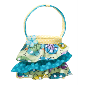 Flower Doodle Ruffle Tote picture