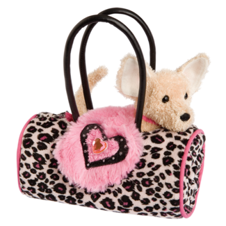 Pink Leopard Sak with Chihuahua picture